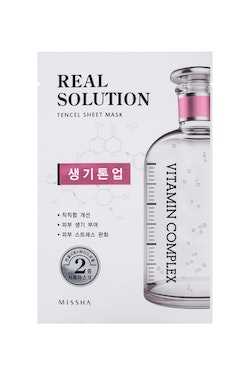 Ansiktsmask: Missha Real Solution Tencel Sheet Mask (Brightning - Vitamin Complex)