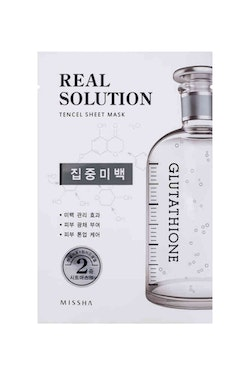 Ansiktsmask: Missha Real Solution Tencel Sheet Mask (Pure Whitening - Glutathione)