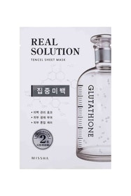 Missha Real Solution Tencel Sheet Mask (Pure Whitening - Glutathione)