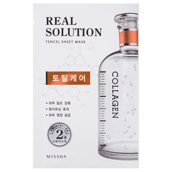 Ansiktsmask: Missha Real Solution Tencel Sheet Mask (Total Care - Collagen)