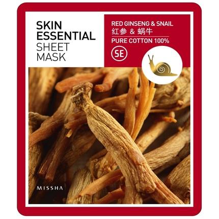 Ansiktsmask: MISSHA Skin Essential Sheet Mask Ginseng & Snail