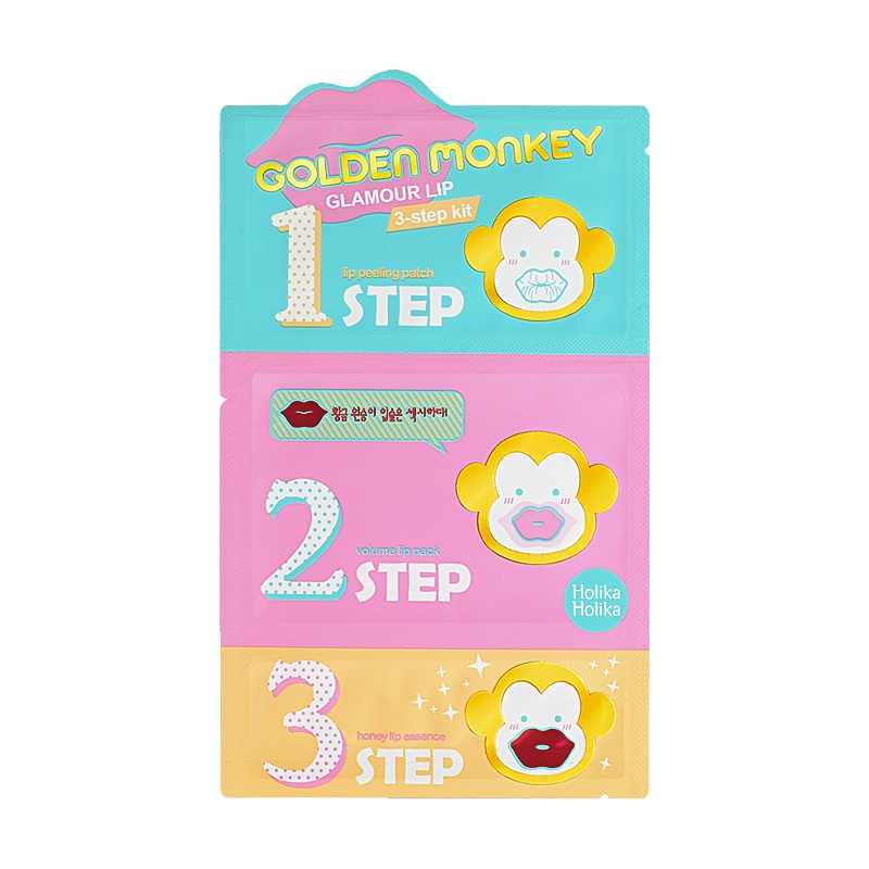 Läppmask - Golden Monkey Glamour Lip 3-Step Kit
