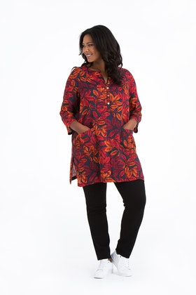 Nora tunic Leaf red