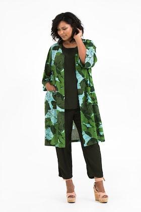 Meja kimono Fauna blå/grön