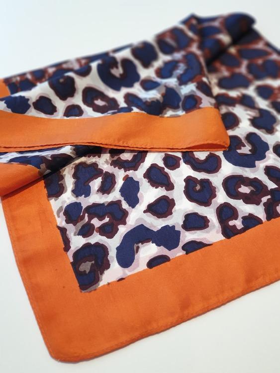Lou sjal marin/orange