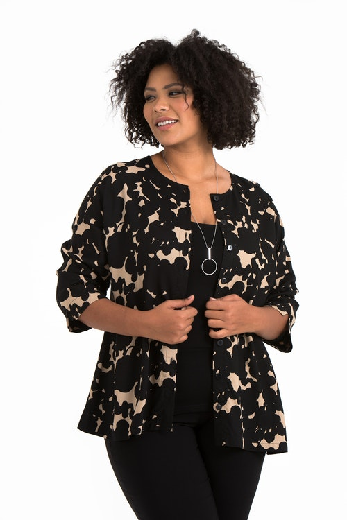 Abby top Ink beige/black