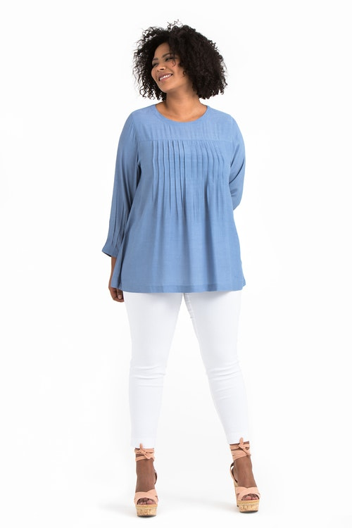 Erika tunic light blue