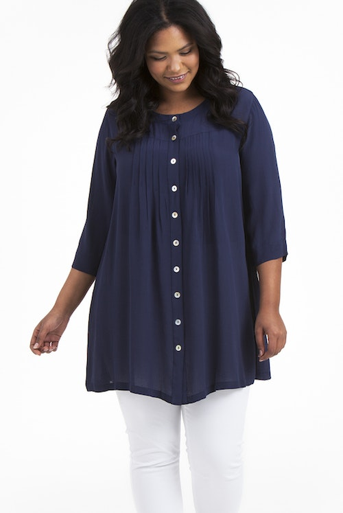 Emma tunic blue