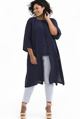 Meja kimono blå