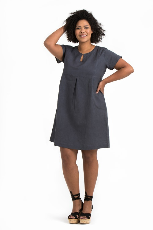 Signe klänning mörkgrå