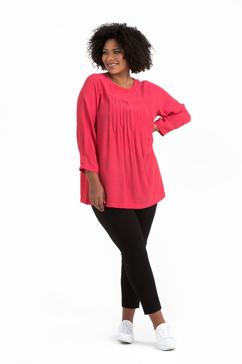 Erika tunic coral red