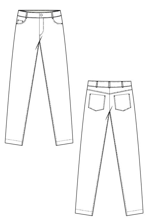 Power jeans blå