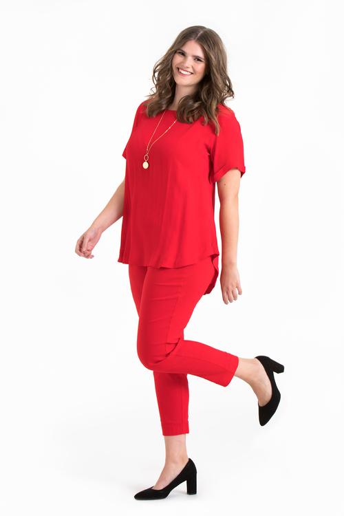 Pamela 4146 byxa röd