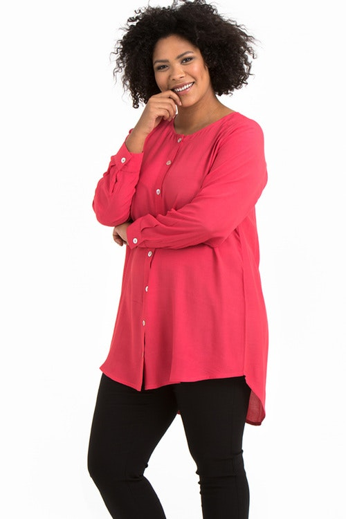 Ilse blouse coral red