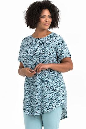 Ally klänning/tunika Aqua blå