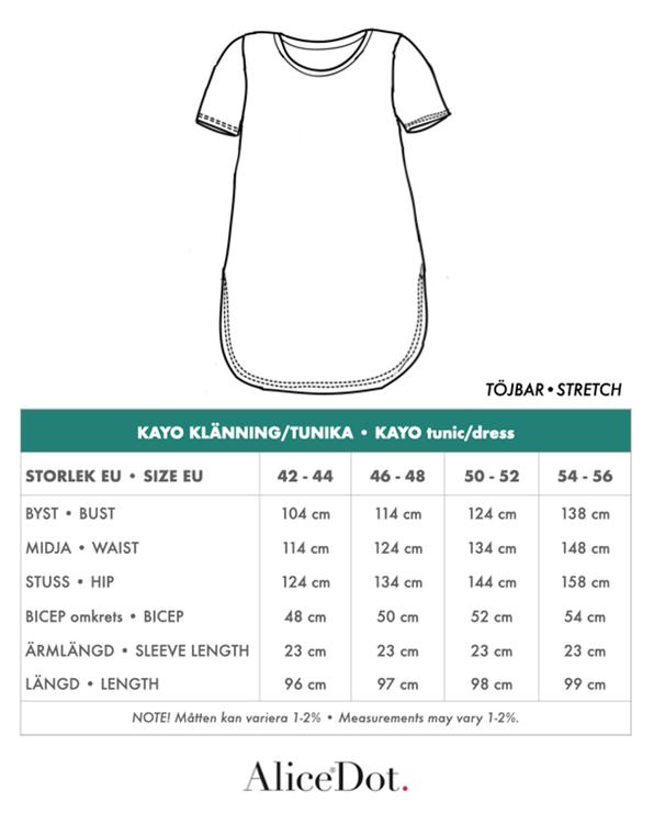 Kayo klänning/tunika blå/vit