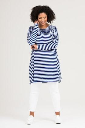 Kate klänning/tunika blå/vit