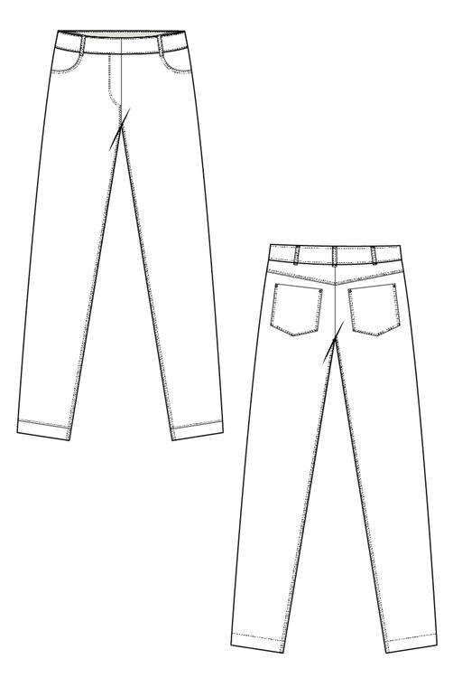 Pamela jeans 731 blå