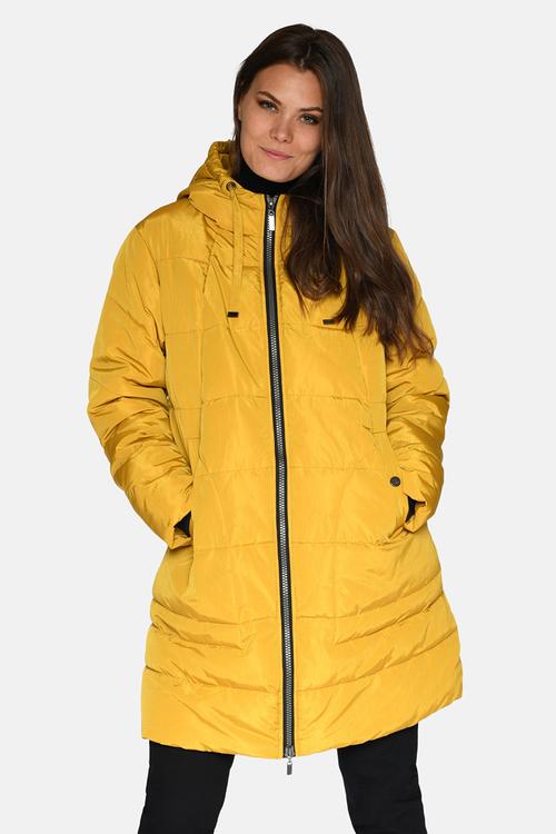 Hooded jacket yellow