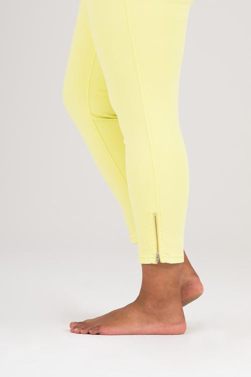 Power zip jeans gul