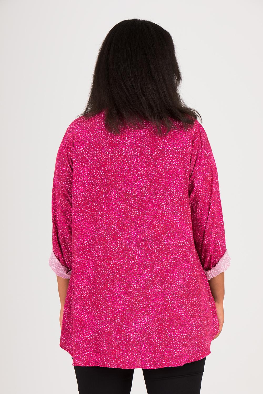 Lea skjorta mönstrad cerise