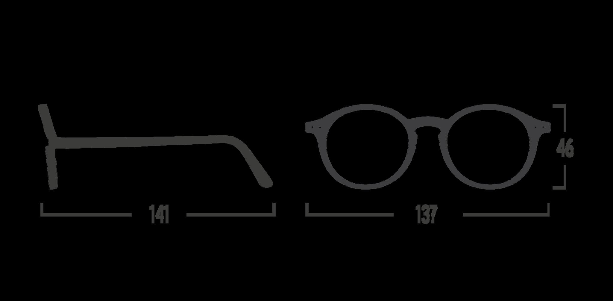 Läsglasögon Izipizi modell D Mars