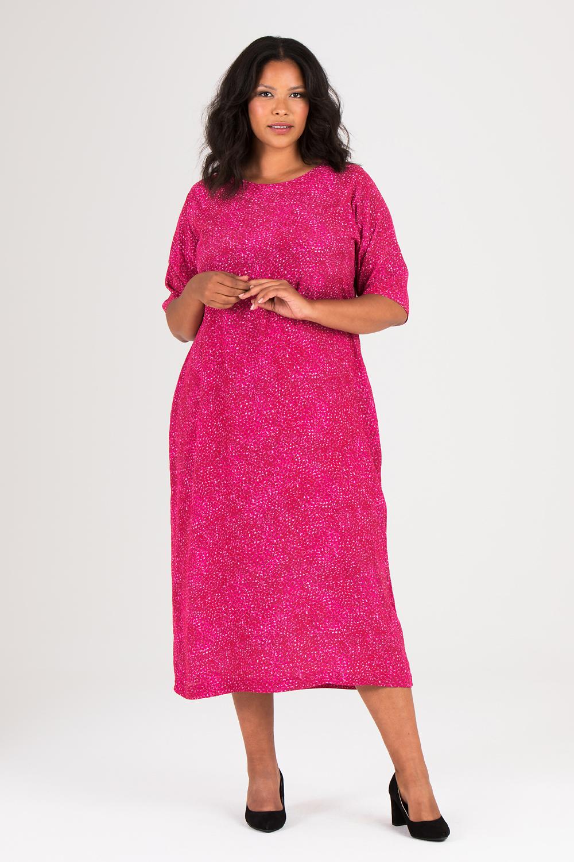 Annie klänning mönstrad cerise