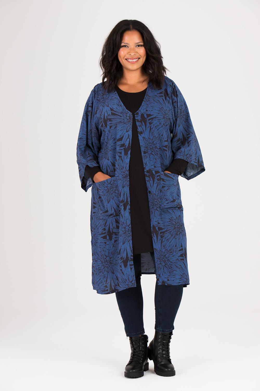 Meja kimono Blue Night svart/blå