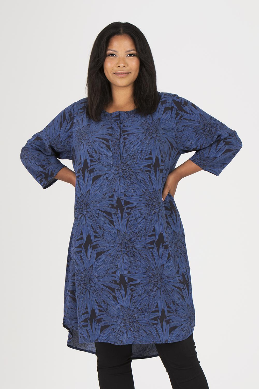 Lykke klänning/tunika Blue Night svart/blå