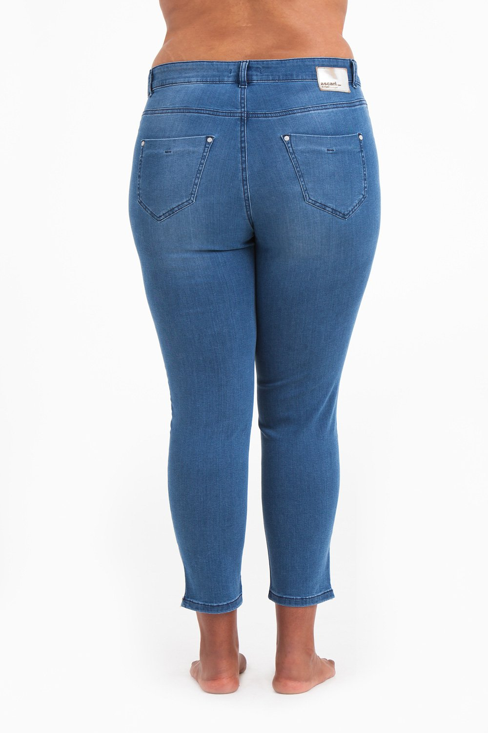Power zip jeans blå