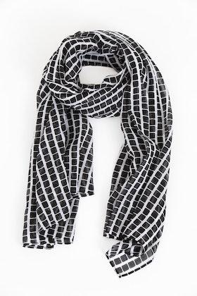 Step scarf black/white