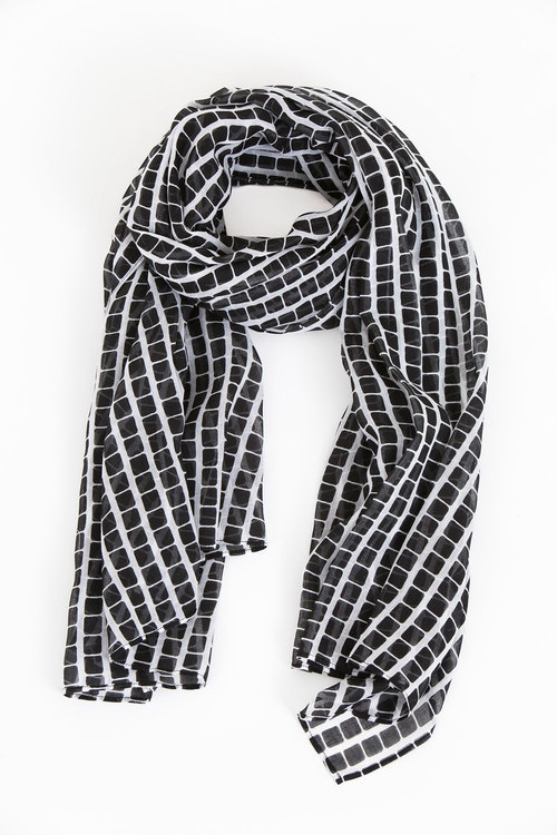 Step scarf black/white