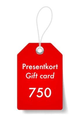 Presentkort 750