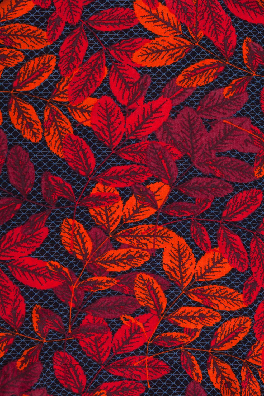 Ninni tunika Leaf röd