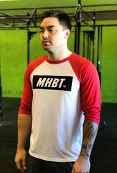 MHBT Raglan White/RED