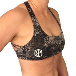Born Primitive - Vitality Bra Black Splash