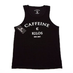Caffeine and Kilos MEN - New School Tank - Black
