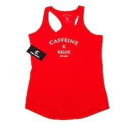 Caffeine and Kilos WOMAN - Grinder Tank - Red