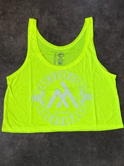 Barbell Habits Crop Tank - Yellow