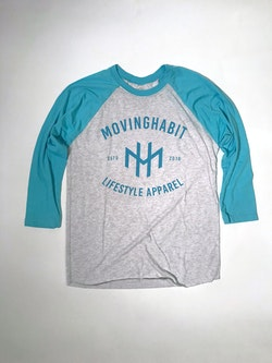 Casual Raglan - Tahiti Blue/White