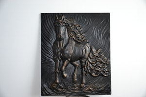 Tavla med hästmotiv