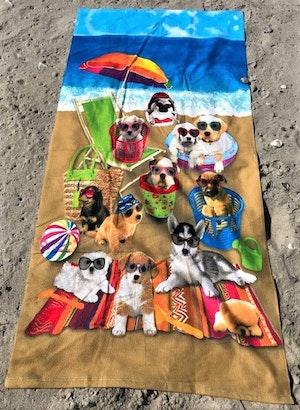 Strandhandduk Hundar