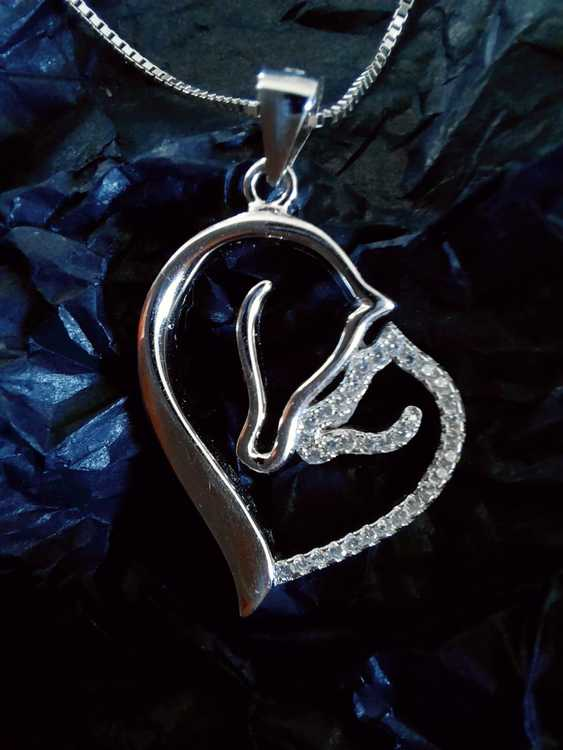Halsband Hjärta, äkta silver