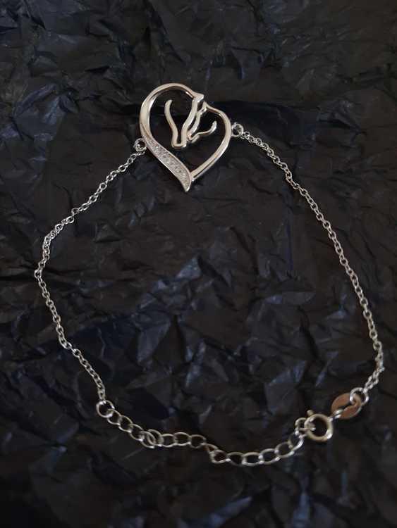 Armband Hjärta, äkta silver