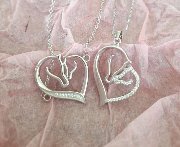 Halsband och Armband, äkta silver