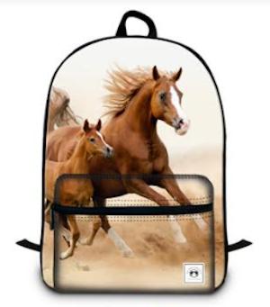 Ryggsäck hästar, med flera fack