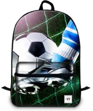 Ryggsäck fotboll, med flera fack