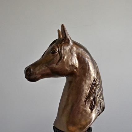 Hästhuvud, guld