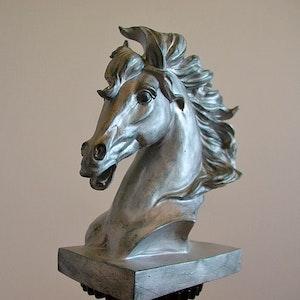 Hästhuvud, silver