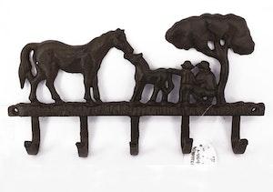 Hängare, häst med föl